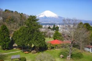 東山荘より富士を望む