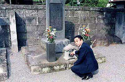 米山梅吉翁の墓参いたしました。
