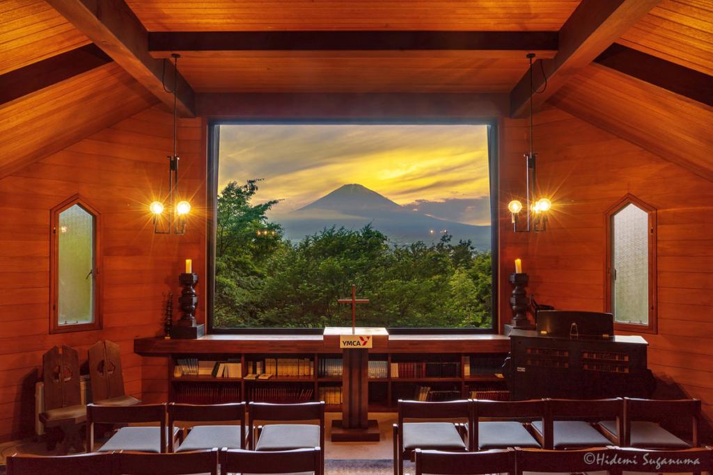 YMCA東山荘からの富士夕景